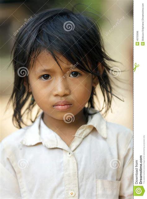 yukikax cambodia cambodian little girl portrait editorial photo image