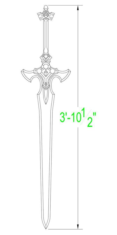 Blueprint Maker Online sword art online excalibur template by solvash on deviantart