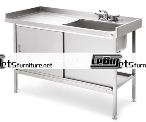 stainless steel utility sink with drainboard metal kitchen sink base cabinet stainless steel kitchen