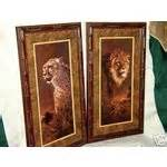 Home Interior Tiger Picture by Home Interiors Homco Tiger Prints Retired 04 21 2007