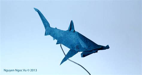 Origami Great White Shark - origami easy origami shark origami easy tutorial how to