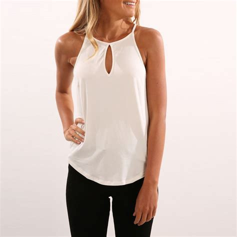 Sleeveless Shirt 8 tank cami tops 2017 fashion womens summer vest tops sleeveless shirt blouse casual tank