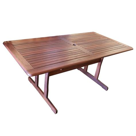 tropical wood outdoor dining table rectangular 1 8m buy