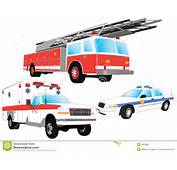 Emergency Vehicles  Firefighter Ambulance And Police Car