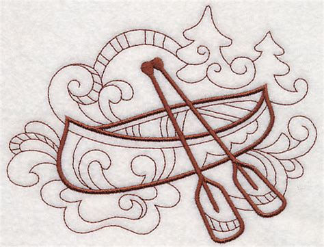 doodle canoe machine embroidery designs at embroidery library