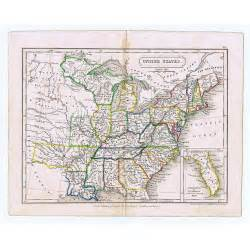 united states of america eastern states antique map 1826