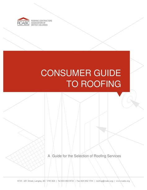 Roof Care 4 Tips To Consumer Guide To Roofing By Rcabc Issuu
