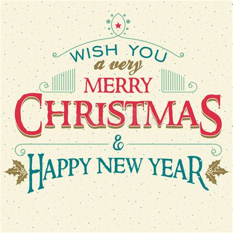 merry christmas   year greeting card stock vector image