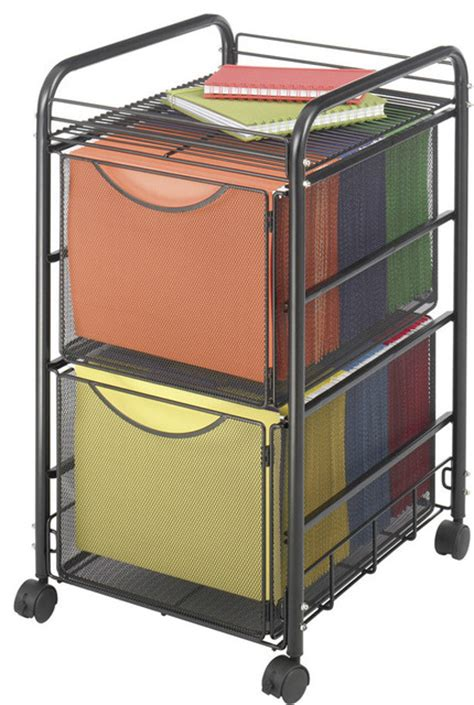 file cart on wheels with drawers shop houzz safco products safco onyx mesh file cart with