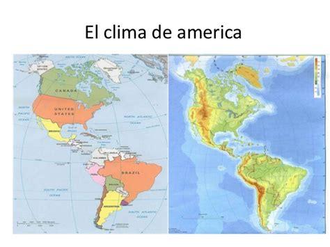 america mapa de climas el clima de america juan si