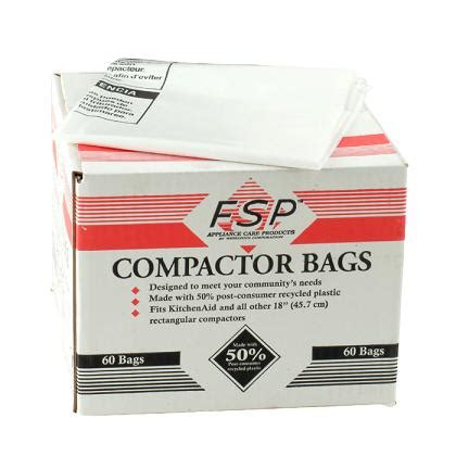 garbage compactor bags whirlpool part w10165293rb 18 quot trash compactor bags