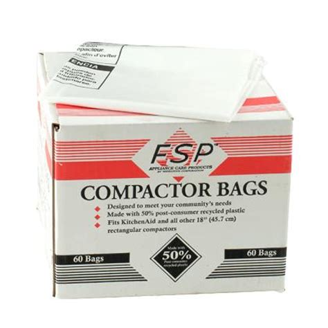 trash compactor bags whirlpool part w10165293rb 18 quot trash compactor bags