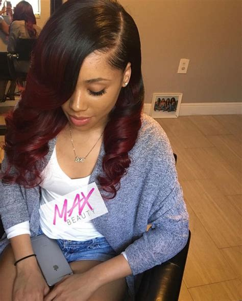 looking for sew in weave hairdressers for black women in or near jackson ms black cherry full sew in with curls using 4 bundles of