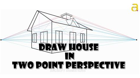 2 Point Perspective House Drawing Lesson by How To Draw A House In Two Point Perspective Perspective
