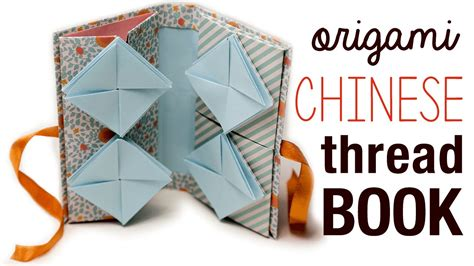 Origami Book Tutorial - origami thread book tutorial diy