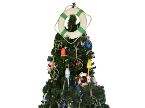 buy white lifering seafoam green bands christmas tree