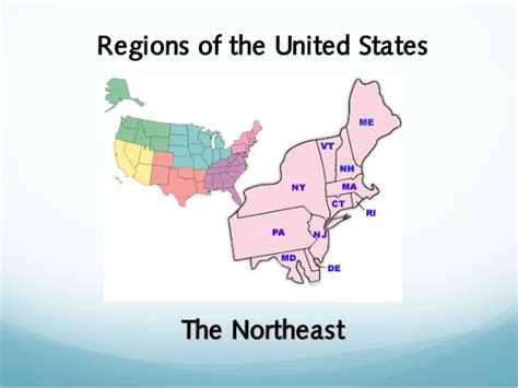 northeast map of the united states regions of the united states the northeast