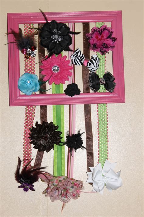 thrifty decorating old window hairbow holder bow holders my baby girl and baby girls on pinterest