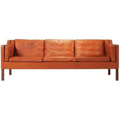 cognac leather sofa modern cognac leather sofa by borge mogensen modern sofa