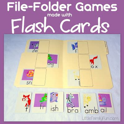 how to make your own index cards family file folder flash cards