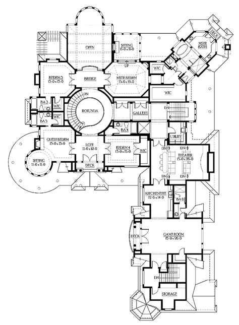 floor plans for large homes luxury floor plans an amazing mansion luxury home plan
