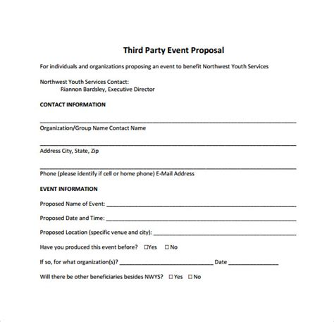 format of proposal for event sle event proposal template 21 free documents in pdf