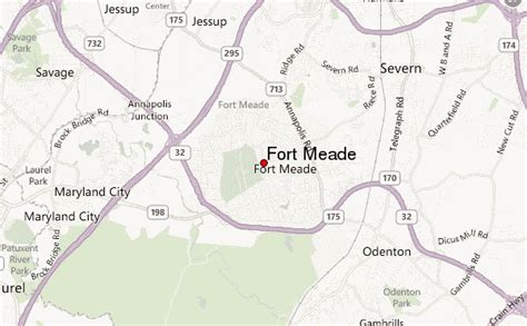maryland map fort meade fort george meade location guide