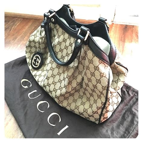 Gucci Authentic Preloved 1 37 gucci handbags preloved authentic gucci sukey med tote in orig gg from me s