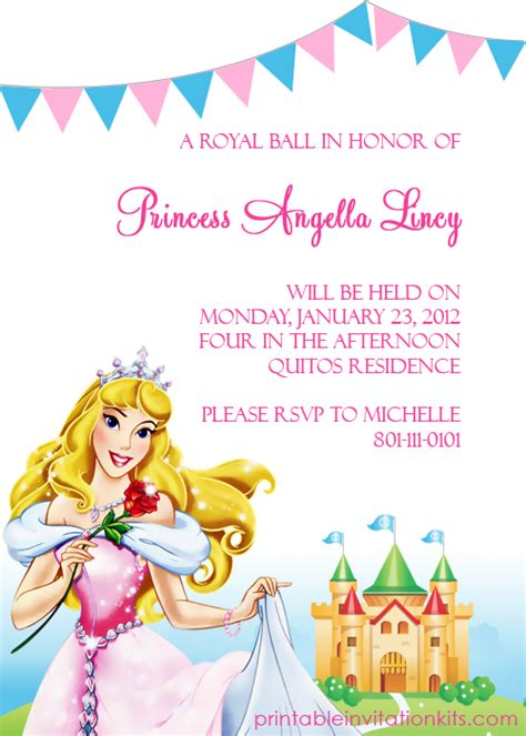 free disney invitation templates 7 best images of disney princess free printable templates