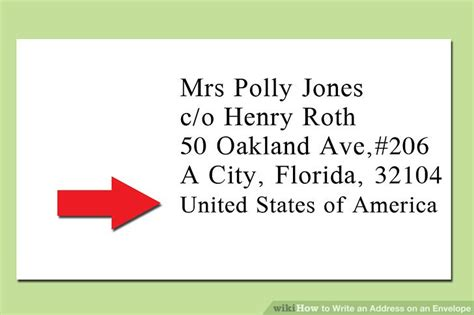 How To Write An Address On A Letter