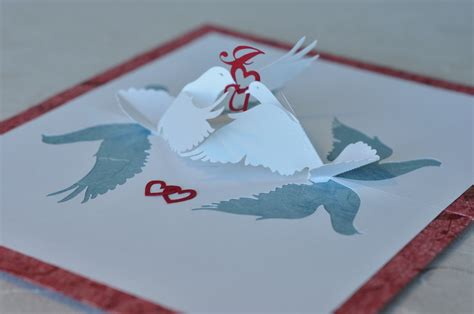 lovebirds pop up card template