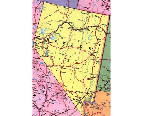 road map nevada usa maps of nevada state collection of detailed maps of