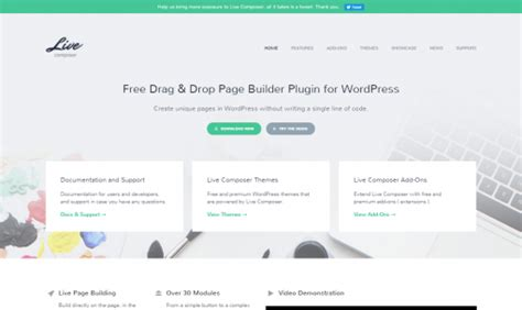 page builder for wordpress 100 free plugin livecomposer 19 frameworks y 16 page builders para wordpress ceslava