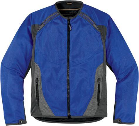 blue motorbike jacket icon anthem mesh motorcycle jacket blue