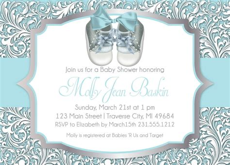 unique baby shower invitations for boys baby shower invitation unique boy baby shower shoes