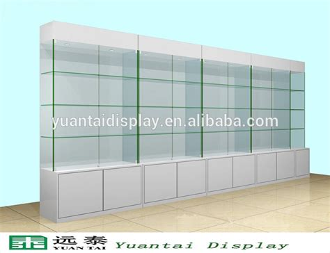 display cabinets for retail stores free standing white wooden glass wall display storage
