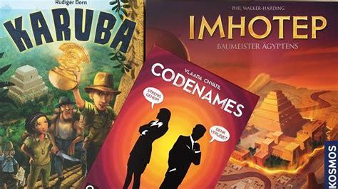Des Jahres 2016 by Codenames Imhotep Karuba Die Drei Nominierten F 252 R Das