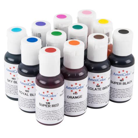 food coloring gel americolor 12 pack of gel food color 12 pack