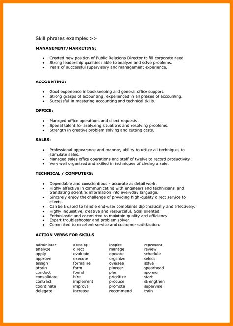 abilities for resume exles 4 resume language skills appeal leter
