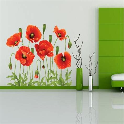 discount wall stickers big discount poppy removable wall decals home decor