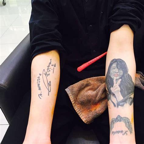 9muses hyuna tattoo this fan showed iu a tattoo he got of her face koreaboo