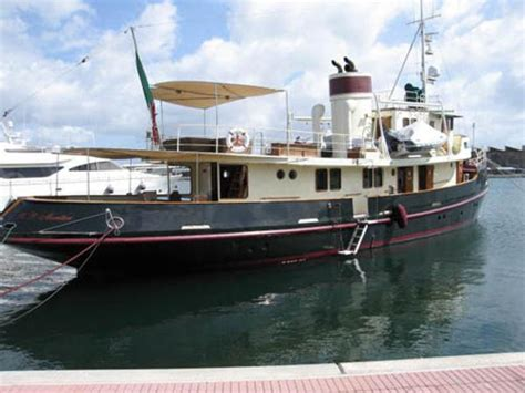 luxury tugboat yacht 1953 benetti converted tug for sale