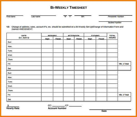 weekly timesheet template authorization letter pdf