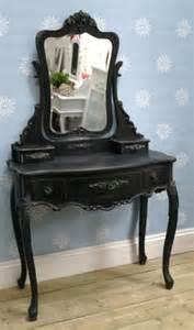 french boudoir black vintage dressing table vanity mirror