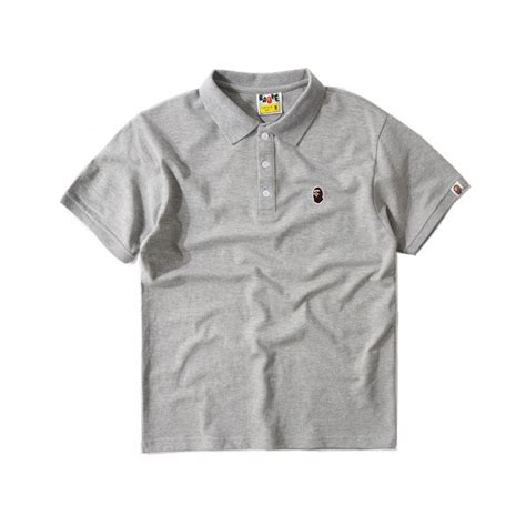 Kaos Tshirt Bape X Undefeated 1 bape logo polo shirt grey