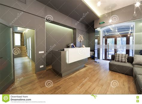 clinica porta sole perugia lobby entrance with reception desk in a dental clinic