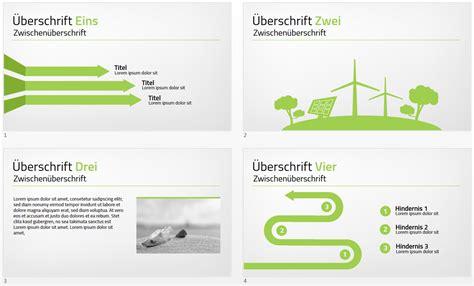 Powerpoint Design Vorlagen 2007 Pr 228 Sentationsprofi Gr 252 Ne Powerpoint Vorlage Zum Thema Energie Windkraft Solar