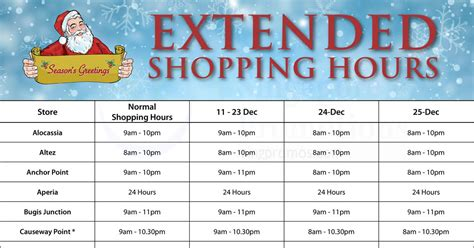 shopping hours cold storage extended shopping hours from 11