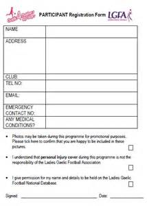 Player Registration Form Template by Player Registration Form Template Player Registration