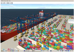 layout design for greenfield port filyos container terminal simulation rbs emea